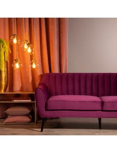 Sofá de Dos Plazas en Terciopelo Purpura, foto Ambiente