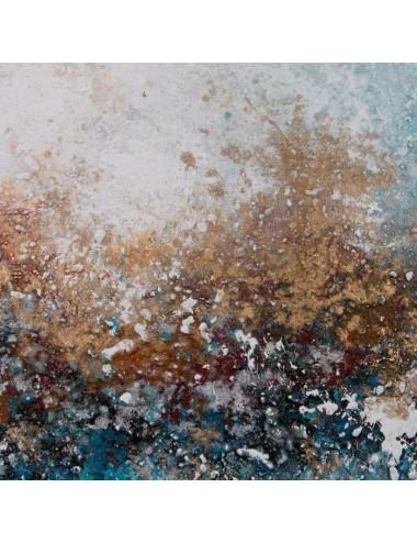 Cuadro Abstracto en Azul y ocre, detalle 1