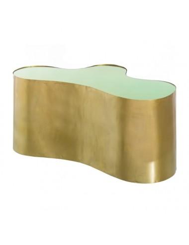 Mesa de Centro en Metal Dorado