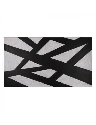 Pintura Abstracto en Blanco y Negro sobre Lienzo