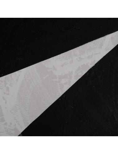 Pintura Abstracto en Blanco y Negro sobre Lienzo, detalle 1