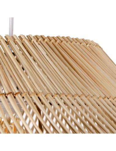 Lámpara de Techo en Bambú Natural, detalle Superior