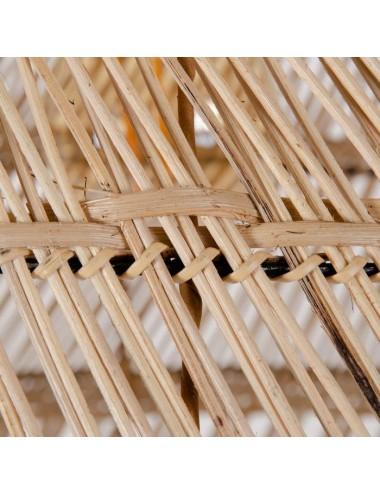 Lámpara de Techo en Bambú Natural, detalle Pantalla