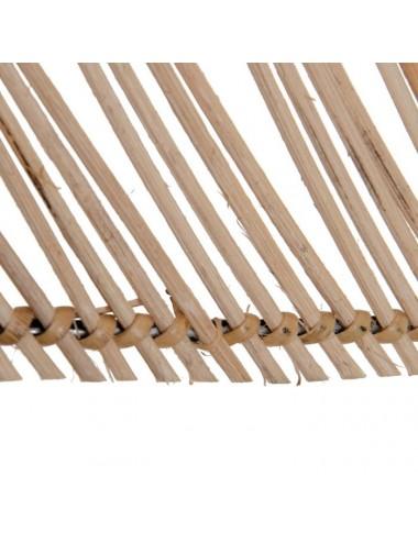 Lámpara de Techo en Bambú Natural, detalle Inferior