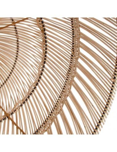 Lámpara de Techo en Bambú Natural, detalle Interior