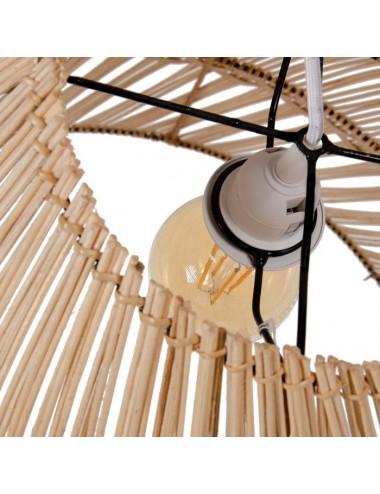 Lámpara de Techo en Bambú Natural, detalle Bombilla