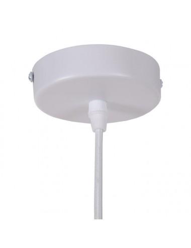 Lámpara de Techo de Fibra Natural, detalle Florón