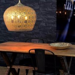 Lámpara de techo Chapa Dorada, idea Decoración